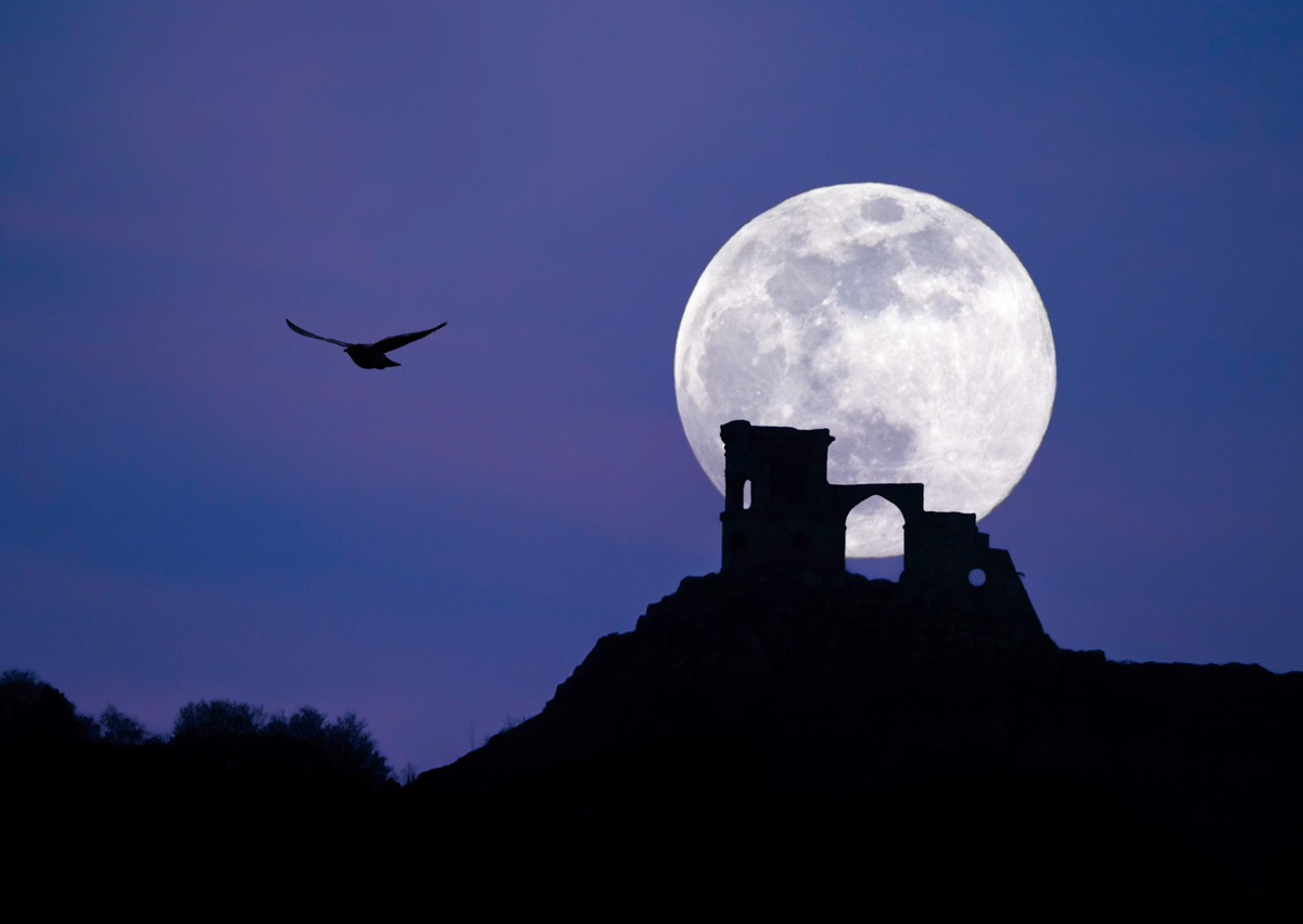 Moon over Mow Cop